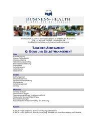 tage der achtsamkeit qi gong und selbstmanagement - Business ...