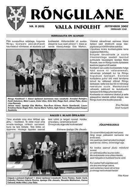 September 2007 - Rõngu Vald