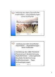 Bio Austria Leistung aus dem Grundfutter maximieren