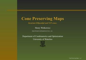 talk (pdf file) - University of Waterloo