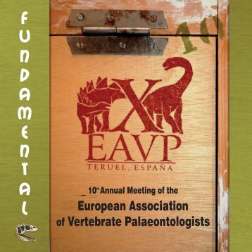 European Association of Vertebrate Palaeontologists - Aragosaurus
