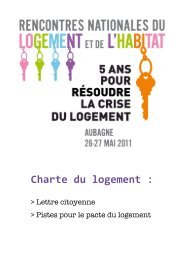 Une Charte du logement pour en finir avec la crise - Habiter-mpm.info