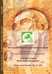 8th Congress of the European Skull Base Society - Professor Dr. Dr ...