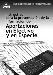 Instructivo para la presentación de la Información de ... - ONPE