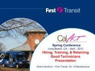 Hiring, Training, & Retaining Good Technicians Presentation - CalACT
