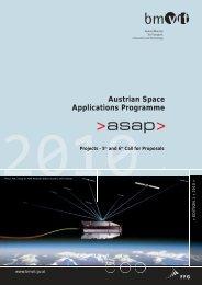 ASAP Weltraumprogramm - Projekte der 5. und 6. Ausschreibung