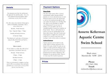 Swim School Brochure - Annette Kellerman Aquatic Centre