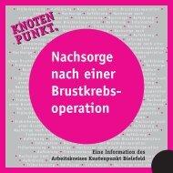 Nachsorge nach einer Brustkrebsoperation - Knotenpunkt Bielefeld