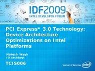 PCI Express* 3.0 Technology: Device Architecture ... - Intel