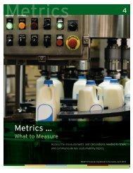 Metrics ... - Innovation Center for US Dairy