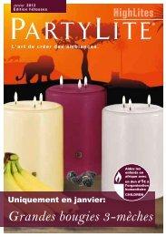Grandes bougies 3-mèches
