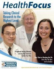 HealthFocus — Fall 2011 issue - Peninsula Regional Medical Center