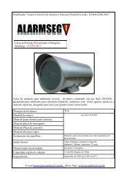 Tel:(041)3286-2867 Caixa de proteção para ... - Alarmes Tucano
