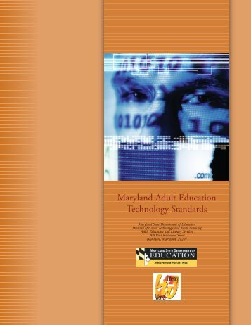 Maryland Adult Technology Plan - Literacynet.org