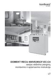 DOMEKT RECU 400VE(W)CF-EC-C4 - komfovent