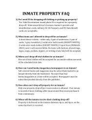 INMATE PROPERTY FAQ - Monroe County