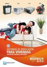 sistemas de ventilación para viviendas - Sodeca