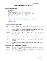 Curriculum Vitae for: Wei Qian - College of Engineering - University ...