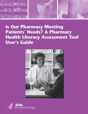 A Pharmacy Health Literacy Assessment Tool User's Guide