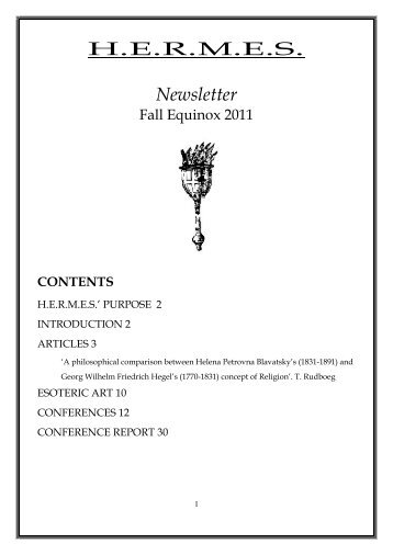 H.E.R.M.E.S. Newsletter - H-e-r-m-e-s.org