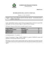 delibera di Giunta Comunale n.41 del 21.06.2012 - Comune di ...