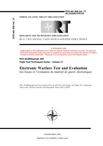 Electronic Warfare Test and Evaluation - NATO Research ...