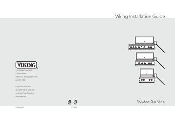 Installation instructions viking range corporation viking installation guide grill repair publicscrutiny Image collections
