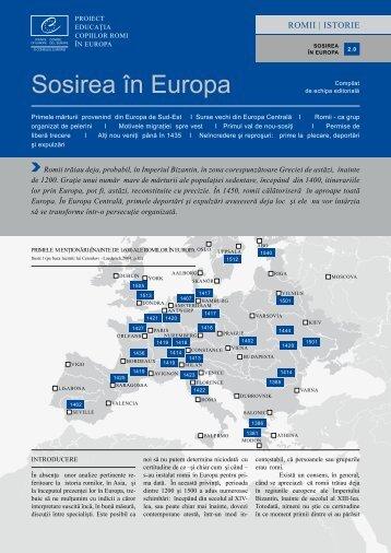 Sosirea în Europa