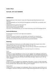 Zoloft, Pfizer Sertralin, ATC-kod: N06AB06 Indikationer ...