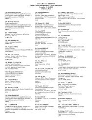 LIST OF PARTICIPANTS Global Conference on - Global Ocean Forum