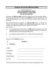 Infoletter-Bestellformular - im bit-Verlag