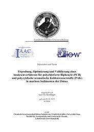 (PCB) und polyzyklische aromatische Kohlenwasserstoffe (PAK)