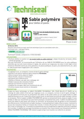 Sable Polymère   Techniseal
