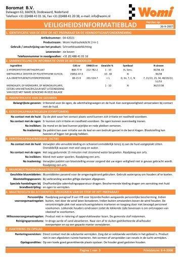 MSDS - Womi NL 04-42021 - PartsPoint