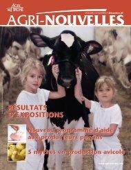 Résultats d'expositions 2007 - Agri-Marché