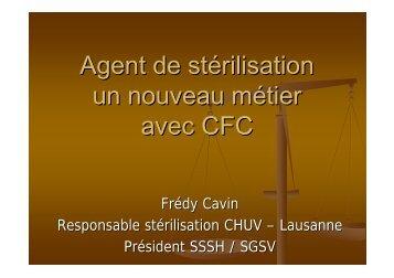 Agent de stérilisation un nouveau métier avec CFC