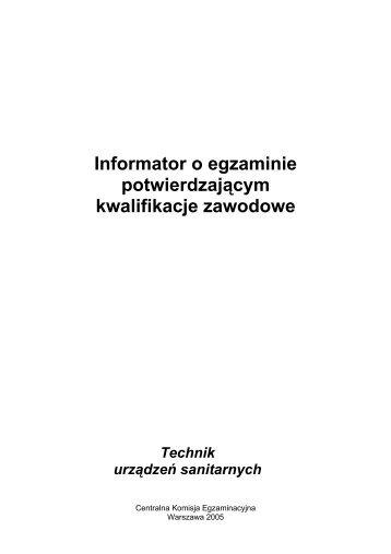 Technik urządzeń sanitarnych - BIP CKE - Centralna Komisja ...