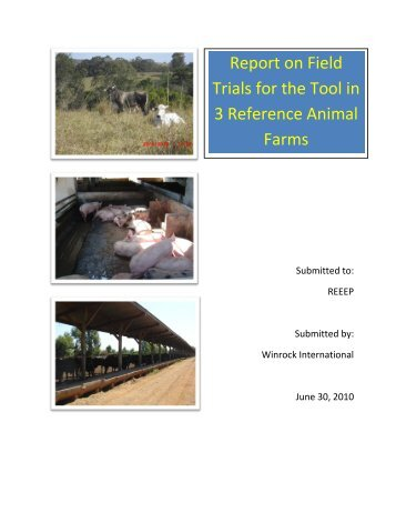Report on Field Trials for the Tool in 3 Reference ... - REEEP Toolkits