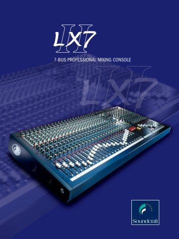 Brochure for 7-Bus Professional Mixing Console