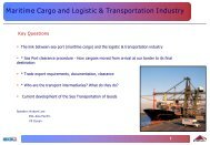 Maritime Cargo and Logistic & Transportation Industry