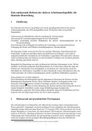 Eine umfassende Reform der aktiven Arbeitsmarktpolitik: die ...