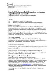 "Protokoll Workshop ""Bedürfnisanalyse kantonales ... - SAJV"