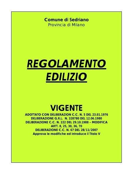 Comune Di Milano Ufficio Tecnico Edilizia Convenzionata