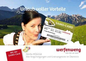 SAMO-Vorteilsheft 2013 - Werfenweng