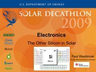 Electronics – The Other Silicon in Solar - Solar Decathlon