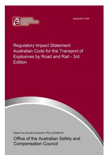 Regulatory Impact Statement - Safe Work Australia