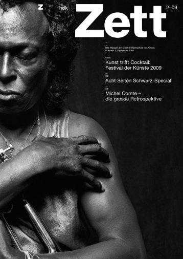 Festival der Künste 2009 Acht Seiten Schwarz-Special Michel Comte