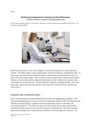 Breakthrough in Ergonomics for Laboratory and Clinical ...