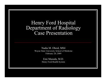 Bell's Palsy.pdf - Henry Ford Health System