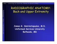 RADIOGRAPHIC ANATOMY: Back and Upper Extremity - Radiology